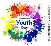 international youth day.... | Shutterstock .eps vector #300164384