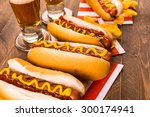 Grilled Hot Dogs With Mustard...