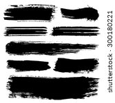 black ink stroke. collection of ... | Shutterstock .eps vector #300180221