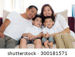 portrait of asian family... | Shutterstock . vector #300181571