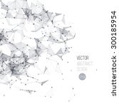 vector illustration molecule...   Shutterstock .eps vector #300185954
