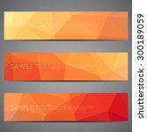 modern vector banners polygonal ... | Shutterstock .eps vector #300189059