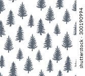 fir tree pattern. engraved... | Shutterstock .eps vector #300190994