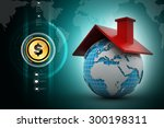 world with roof   Shutterstock . vector #300198311