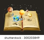 book on astronomy  vector icon | Shutterstock .eps vector #300203849