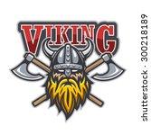viking warrior sport logo.... | Shutterstock .eps vector #300218189