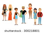style and casual people | Shutterstock .eps vector #300218801