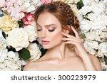 beautiful fashion bride  sweet... | Shutterstock . vector #300223979