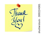 thank you lettering on yellow... | Shutterstock .eps vector #300224381