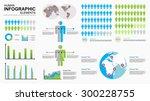 human infographic vector... | Shutterstock .eps vector #300228755