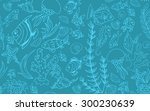 seamless pattern with different ... | Shutterstock .eps vector #300230639