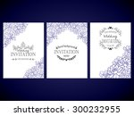 invitation with floral... | Shutterstock .eps vector #300232955