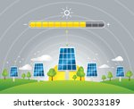 solar panels energy charging  | Shutterstock .eps vector #300233189
