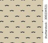 mustache seamless pattern.... | Shutterstock .eps vector #300234521