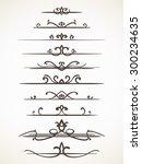 ornamental calligraphic line... | Shutterstock .eps vector #300234635