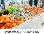 Seafood On Ice  Buffet Line
