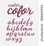 hand drawn calligraphic font... | Shutterstock .eps vector #300241931