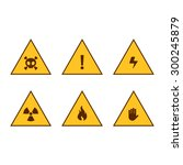 Set Of Warning Signs Of Danger