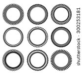 vector set of decorative circle ... | Shutterstock .eps vector #300253181