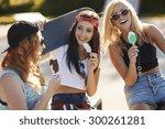 sweet break in the skateboard... | Shutterstock . vector #300261281