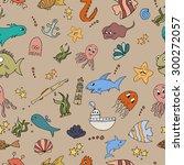 seamless abstract pattern... | Shutterstock .eps vector #300272057