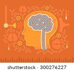 concept of identifying brain... | Shutterstock .eps vector #300276227