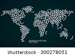 abstract world map. molecule... | Shutterstock .eps vector #300278051