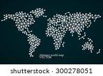 abstract world map. molecule... | Shutterstock .eps vector #300278051