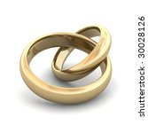 golden wedding rings. 3d... | Shutterstock . vector #30028126