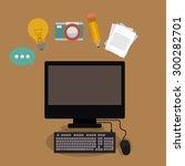 blogger digital design  vector... | Shutterstock .eps vector #300282701