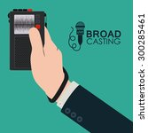 broadcasting digital design ...   Shutterstock .eps vector #300285461