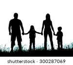 silhouette father  mother and... | Shutterstock . vector #300287069