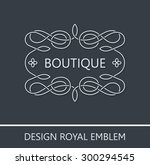 vector ornament emblem baroque... | Shutterstock .eps vector #300294545