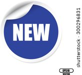 new blue sticker  label or... | Shutterstock .eps vector #300296831