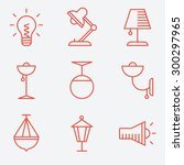 Lamp Icons  Thin Line Style ...