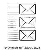 envelopes speed delivery   Shutterstock .eps vector #300301625