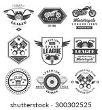 badges  emblems motorcycle... | Shutterstock .eps vector #300302525