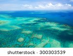 Aerial View Of A Great Barrier...