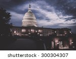 Stock photo the capitol building at night in washington dc united states 300304307