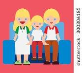 happy family cartoon vector.   Shutterstock .eps vector #300306185