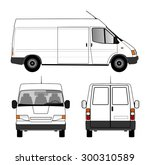 delivery car | Shutterstock . vector #300310589