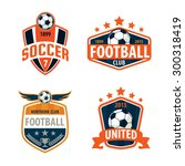 football logo template...   Shutterstock .eps vector #300318419