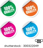 quality100 percent  quality of... | Shutterstock .eps vector #300322049