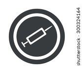 image of syringe in circle  on...
