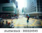 crowded city blurred  for...