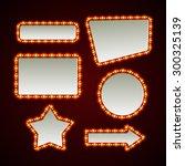 set of retro light frames.... | Shutterstock .eps vector #300325139