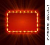 Shining Retro Light Banner. ...