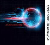abstract  hud futuristic... | Shutterstock .eps vector #300325331