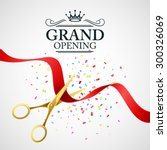 grand opening illustration with ... | Shutterstock .eps vector #300326069
