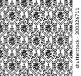vector. seamless damask pattern.... | Shutterstock .eps vector #300326711